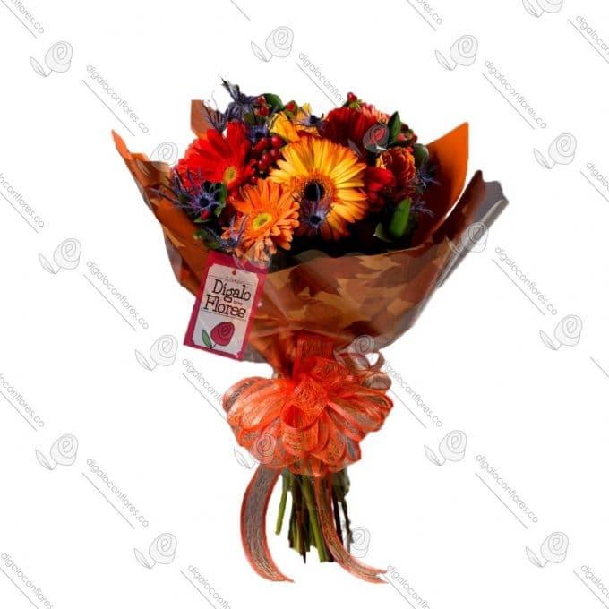 Bouquet de rosas tropicales en Bogotá