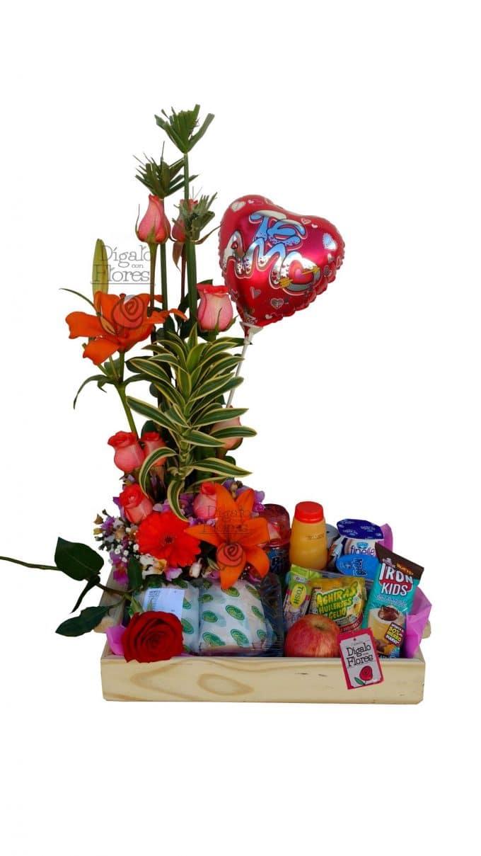 Desayuno sorpresa con flores, globos y comida. Entregas en Bogotá