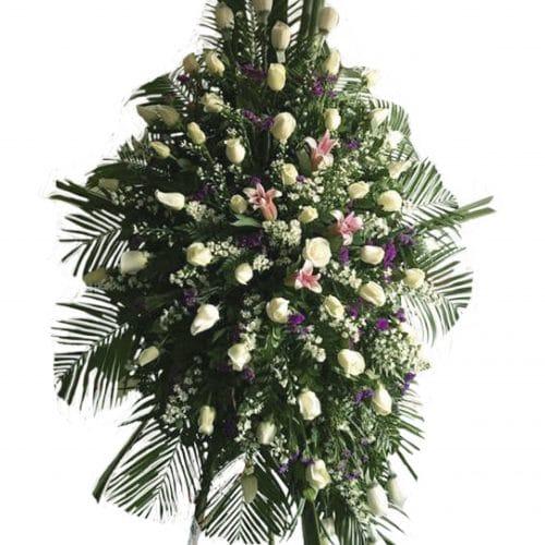 Coronas fúnebres blanca