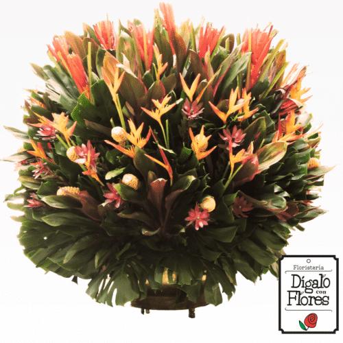 Diseño de flores exóticas de temporada