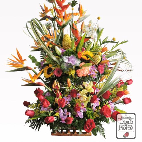 Ancheta de flores diversas en venta